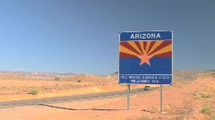 Welcome to Arizona Sign Along Road - Time Lapse - stock footage