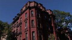 Brownstone Archetecture - stock footage