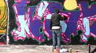 Stock Video Footage of painter and graffiti