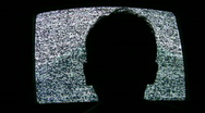 Stock Video Footage of child head silhouette and tv