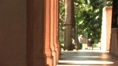 Balboa Park San Diego 01_Corridor 03 Stock Footage