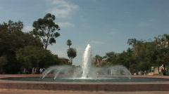 Balboa Park San Diego 01_Fountain 01 Stock Footage