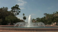 Stock Video Footage of Balboa Park San Diego 01_Fountain 01
