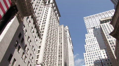 New York Financial District Stock Footage
