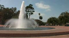 Balboa Park San Diego 01_Fountain 02 Stock Footage