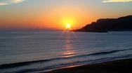 Sunset in beach Stock Footage
