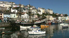 Brixham harbor in Devon England. Stock Footage