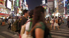 Shinjuku during Night in Tokyo, Japan - stock footage
