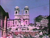 Spanish Steps in Rome-From 1950's movie film Stock Footage