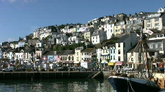 Brixham harbor in Devon England. - stock footage