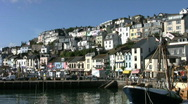 Stock Video Footage of Brixham harbor in Devon England.