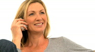 Attractive woman on the phone Stock Footage
