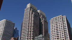 Financial District of Boston Stock Footage