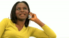 Attractive african woman on the phone Stock Footage