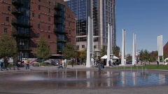 Boston Greenway Fountain Stock Footage