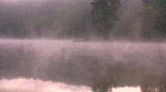 Lake fog Stock Footage