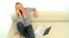 Woman working at home Stock Footage