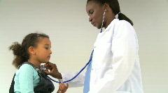 Pediatrician Stock Footage