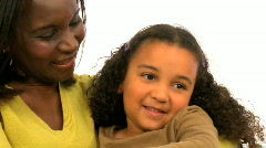 Mother and her daughter Stock Footage