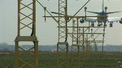 HD1080i Passenger jetliner landing in airport. Amsterdam. Stock Footage