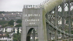 Royal Albert railway bridge at Saltash built by Brunel over the river Tamar. Stock Footage