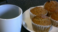 Stock Video Footage of Coffee & Muffins