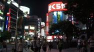 Shinjuku during Night in Tokyo, Japan Stock Footage