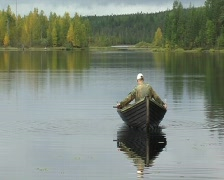 Men in a boat  Stock Footage