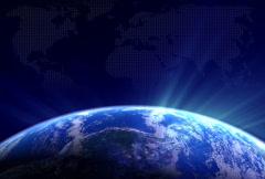 Blue Rotating Globe 3 - stock footage