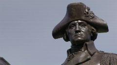 George Washington Statue - stock footage