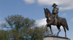 George Washington Statue Stock Footage