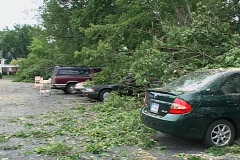 Tornado Storm Damage Stock Footage