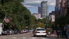 Pedestrians Cross Street Stock Footage