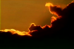 Sunset Clouds Red Stock Footage