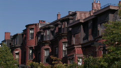 Brownstone Architecture  - stock footage