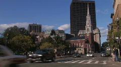 Boston Street Scene Stock Footage