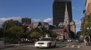 Stock Video Footage of Boston Street Scene