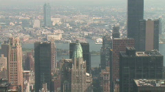 Hazy New York City Skyline Stock Footage