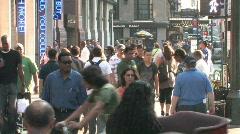 Crowded NYC Sidewalk Stock Footage