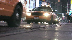 NYC traffic night - stock footage