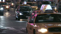 NYC Oncoming Night Traffic Stock Footage