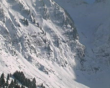 Avalanche Plume Stock Footage
