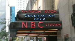 NYC Rainbow Room Zoom-in Stock Footage