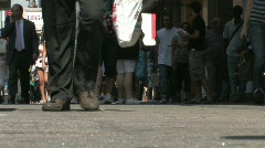 NYC Foot Traffic Stock Footage