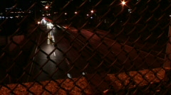 City Traffic Timelapse Through Fence Stock Footage
