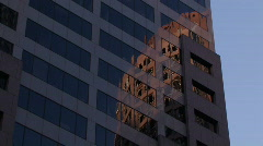 Office Buildings in the Evening Sun Stock Footage