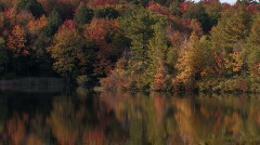 Fall Colors Reflected in a Lake Stock Footage
