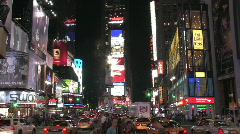 Times Square in New York City at Night Stock Footage