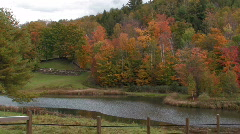 Country Farm In Vermont Stock Footage