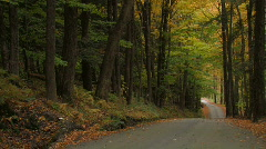 Vermont Country roads in the fall Stock Footage